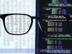 1,67 индекс одиночного видения анти-синий светильник Линзы для очков Асферические Анти-Царапины анти-отражение оптические линзы