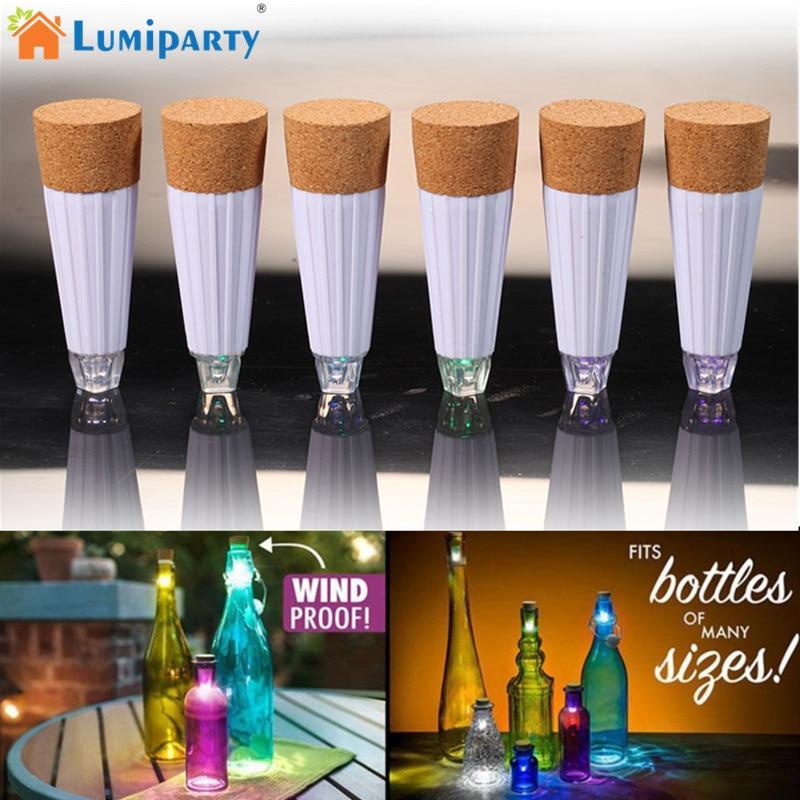 LumiParty Magic Cork Shaped LED Night Light Wine Bottle Cork Stopper Cap Lamp USB Rechar ...