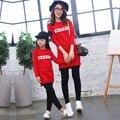 Мать Дочь Платья Мода С Длинным рукавом Семья Посмотрите Соответствия Одежды Хлопок Мама И Дочь Платье Семья Clothing S-XL 3-8