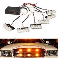 Hot DC12V Car Truck Magnetic Warning Flash Beacon Strobe Emergency Lights Lamp Yellow Ambe