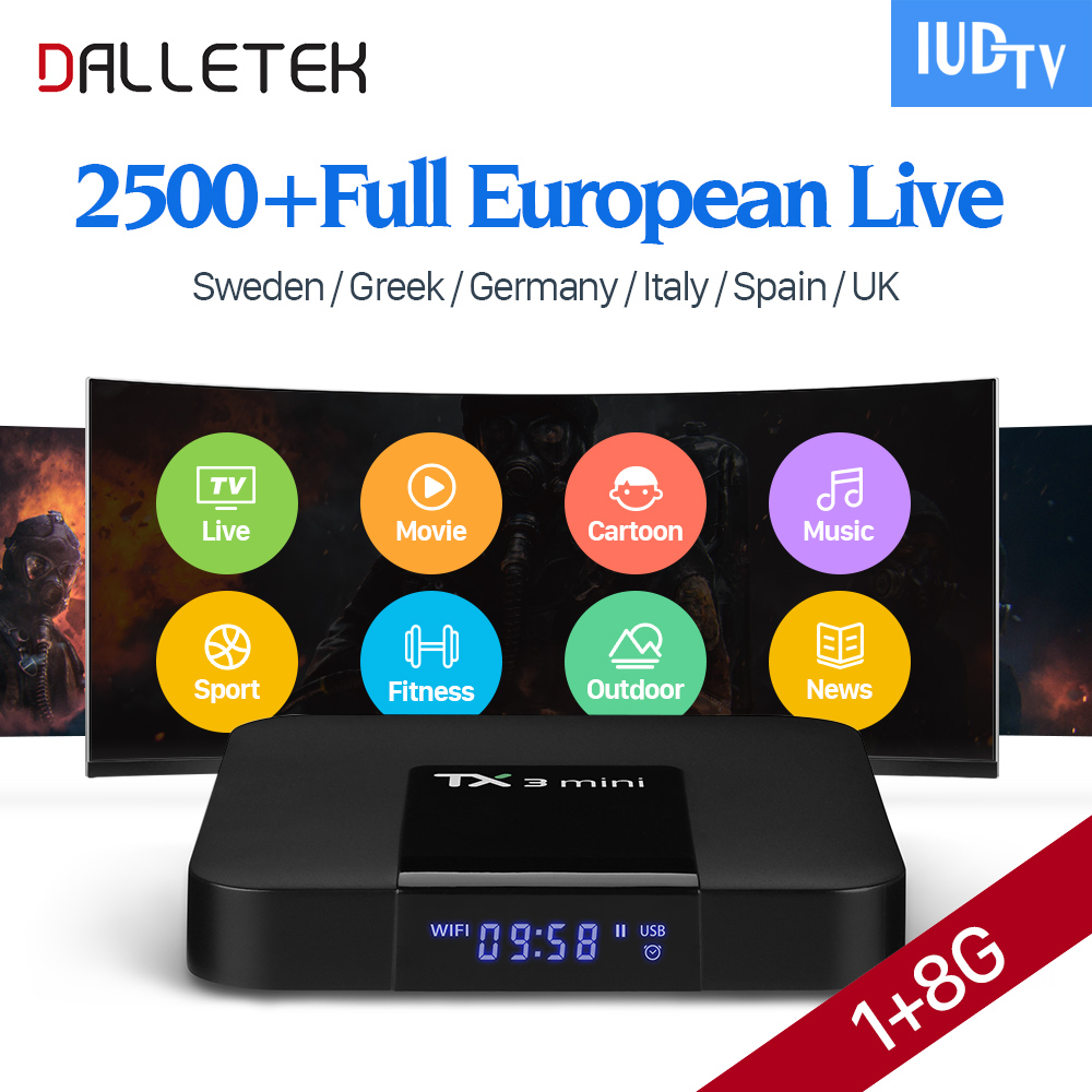 TX3 Mini TV Box Android 7.1 Europe Arabic Channels IUDTV IPTV Subscription Sweden Netherlands Germany French Belgium IPTV Box free italy sky french iptv box 1300 european channels iudtv european iptv box live stream sky sports turkish sweden netherland