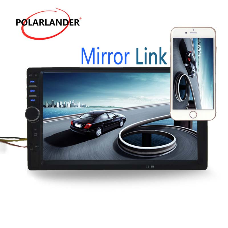 General Car Models Auto radio Optional 170 degree CCD rearview camera LCD Touch Screen 7 inch Car radio Player Bluetooth 2 Din