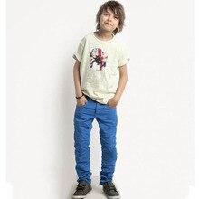 Livraison gratuite 2-10Y enfant enfants bébé garçon filles droite rétro mince pantalons en coton pantalons Casual pantalons pantalons