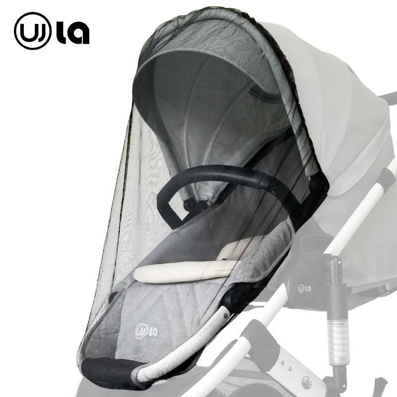 High Landscape Baby Stroller Mosquito Net Luxury Baby Pram Universal Mosquito Net Baby Umbrella Car Mosquito Net Stroller Black