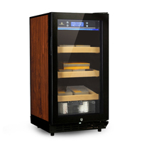 Cigar Cabinet Constant Temperature And Humidity Cigar Storage Cabinet Electriclly Three-Layer Parquet Cigar Cabinet LF-9001