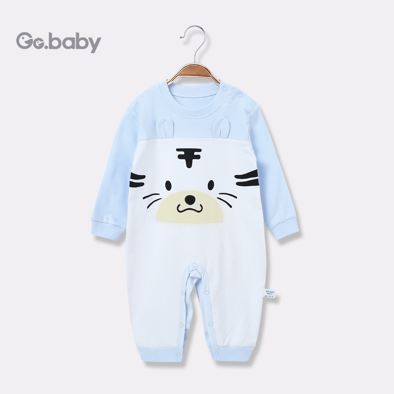 Newborn Baby Bear Romper Clothing Baby Spring Long Sleeve Pajamas Jumpsuit Clothes Baby Boy Girls Rompers Infant Girls Overalls cute back wings baby rompers long sleeve gray white cotton kids boy girls romper jumpsuit infant baby autumn clothes outfits