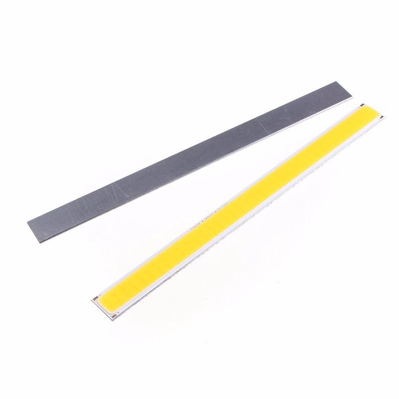 6W COB 76 LED Chip Strip Bar Light Pure Warm White Lamp Bulb For DIY Car Auto Light Source DRL Lamp Lighting DC12V 520Lumen 1w led bulbs high power 1w led lamp pure white warm white 110 120lm 30mil taiwan genesis chip free shipping