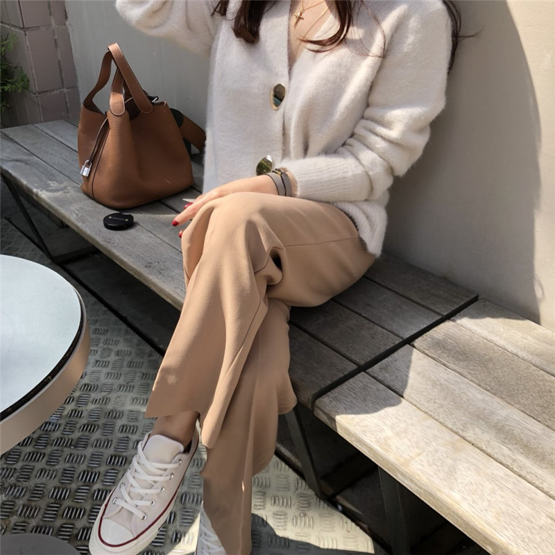 RUGOD Solid Elegant Women Cardigans Casual V-Neck Cashmere Knitted Women Sweaters Slim Autumn Winter Clothes jersey mujer 19 4