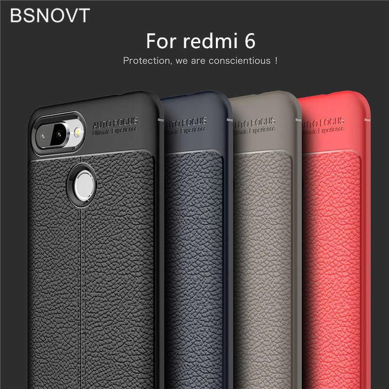 Dành cho Xiaomi Redmi 6 Ốp Lưng Mềm Mại Ốp Lưng Da PU Chống