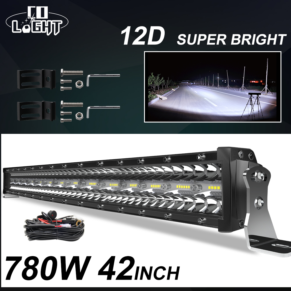 CO LIGHT 3 Rows 42inch LED Bar 780W Combo LED Light Bar For Car Tractor Offroad 4WD 4x4 Truck SUV ATV Driving Work Light 12V 24V