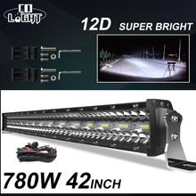 цена на CO LIGHT 3 Rows 42inch LED Bar 780W Combo LED Light Bar for Car Tractor Offroad 4WD 4x4 Truck SUV ATV Driving Work Light 12V 24V