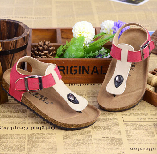 4b88c13766 US $12.5 |new summer style children's shoes brand birkenstock sandalias  boys and girls shoes cork sandals children's shoes 10 color-in Sandals from  ...