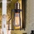 Moderne schwarz käfig anhänger lichter eisen industrielle decor minimalistischen retro Skandinavischen loft anhänger lampe metall Hängen Lampe E27-in Pendelleuchten aus Licht & Beleuchtung bei