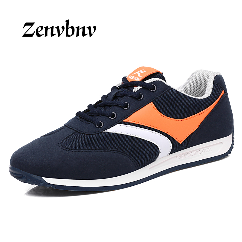 ZENVBNV 2017 Spring Autumn Men Casual Shoes Lace Up Breathable suede leather Comfortable Men Flat shoes Sapatos Masculino 39~44 men casual shoes lace up mesh men outdoor comfortable shoes patchwork flat with breathable mountain shoes 259