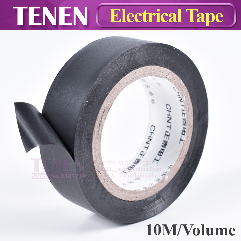 10m/roll Black PVC Electrical Tapes Flame Retardant Insulation Adhesive Tape Heat Resistant Waterproof Insulating Tape DIY Tools