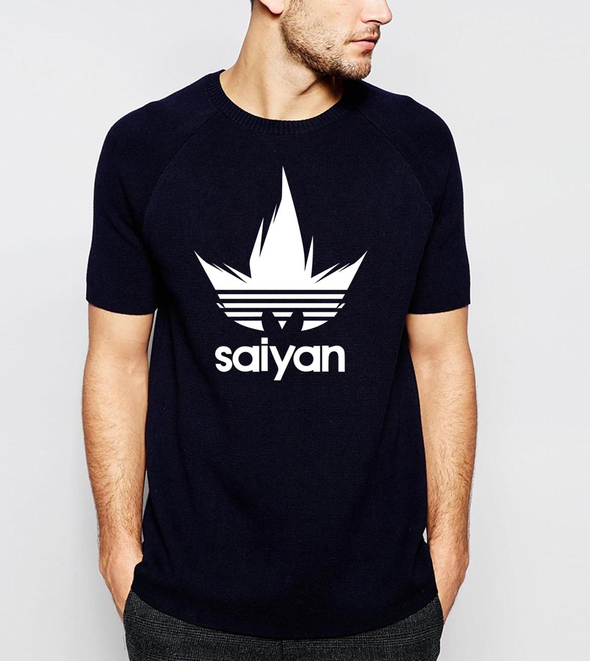 Super Saiyan Anime Dragon Ball Z Men T-Shirts 2019 Summer Round Neck 100% Cotton Tshirt Men's Harajuku Camisetas Hombre For Fans