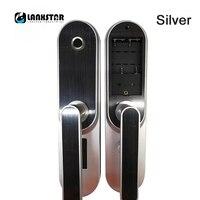 LANXSTAR Smart Fingerprint Password Lock Home Interior Door Bedroom Wooden Door Lock Office Room Lock Electronic Door Hand Lock