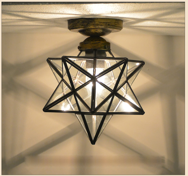 T Modern Corridor Aisle Lamps For Home Bathroom Bedroom Balcony Retro Lights Pentagon Simple hot sell loft style metal cage ceiling lights hotel corridor creative ceiling lamps restaurant aisle balcony kitchen for home lighting