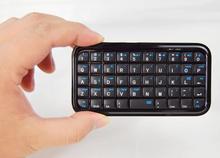 Карманный мини bluetooth клавиатура для iphone 4/4S/5/IPAD 2 3 4 воздуха системы android/samsung/SONY PS4 Бесплатная доставка