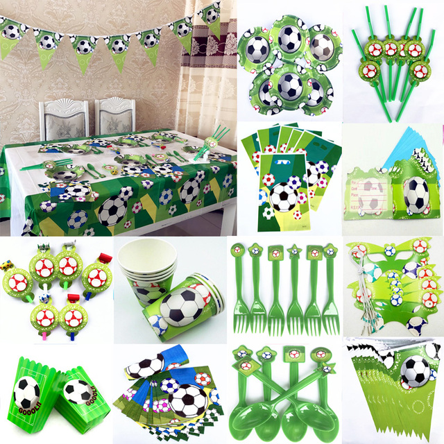 Football Birthday Party Supplies Disposable Tableware Sets Plates