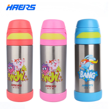 280ML HAERS Cute Smeshariki Thermos Baby Leak Proof Stainless Steel  Kids Thermos Bottle 6-12 hours Children Thermos Straw Cup