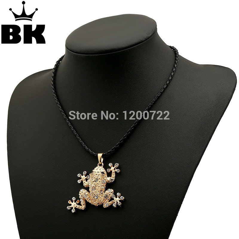 Antique classicism frog gold zinc alloy pendant chain necklace jewlery zinc alloy key chain pendant