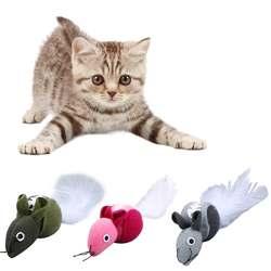 Мини кроличий мех поддельная мышь Pet Cat Catnip игрушечные лошадки забавные игры для товары кошек котенок интересные игрушки