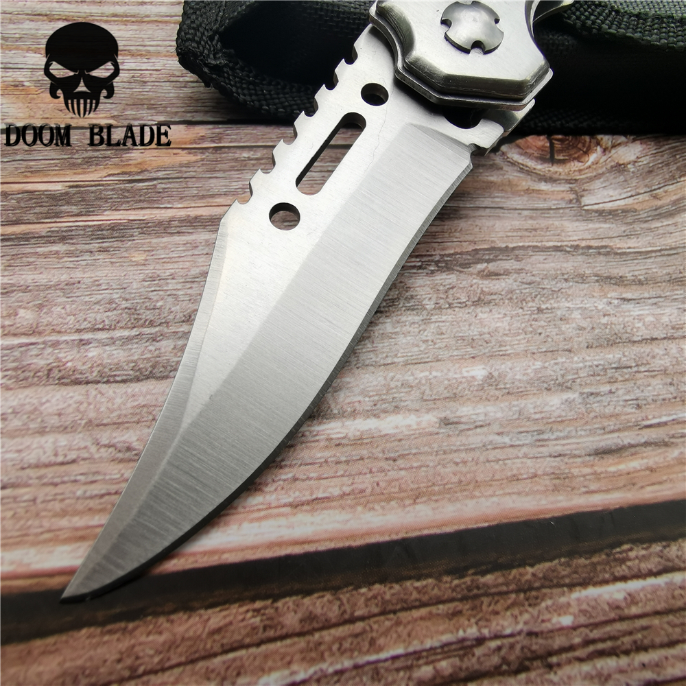 Image 5 - 200mm 5CR15MOV Blade Quick Open Knives Pocket Tactical Folding Blade Knife Survival Hunting Camping Pocket Knife with LED New-in Knives from Tools