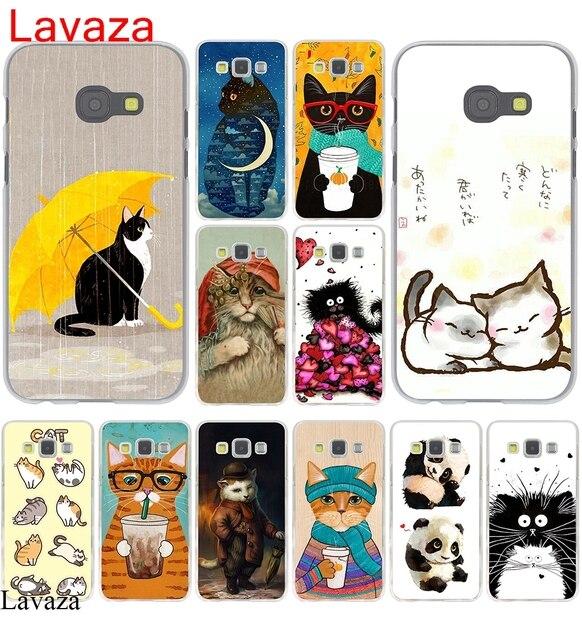 Lavaza Tahun Baru Hadiah Kucing Lucu Hard Case Untuk Samsung Galaxy A3 A5 2015 2016 2017