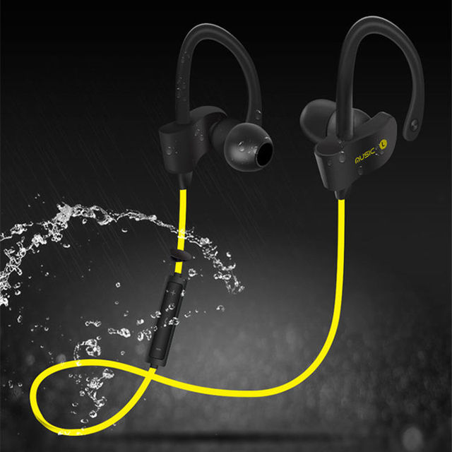 1f9b53557d4 Sport Wireless IPX3 Sweatproof Bluetooth Headsets Ear Hook Stereo Earphones  With Microphone Earbuds For Xiaomi Android Phones