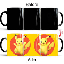 New 350mL Pikachu Magic Coffee Mugs 7 Styles Creative Cartoon Kids Gift Cups Mug Changed Color Milk Tea Gifts