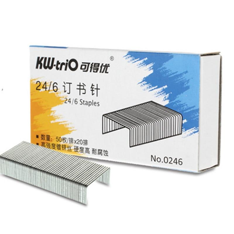1box 24/6 Staples 1000pcs 12x6mm Metal Silver Staples 12# Stapler Staples Office Stationery
