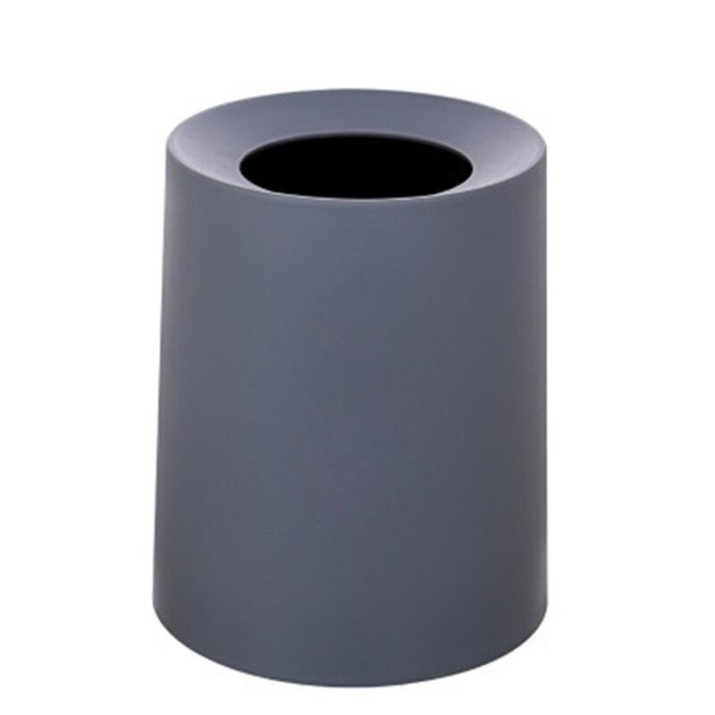 Poubelle de bureau ronde sans couverture poubelle créative poubelle en plastique boîte de nettoyage domestique moderne accessoires poubelles