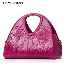 TOMUBIRD new Superior cowhide leather Embossing  famous brand women bag fashion genuine leather handbags Tote Saddle bag