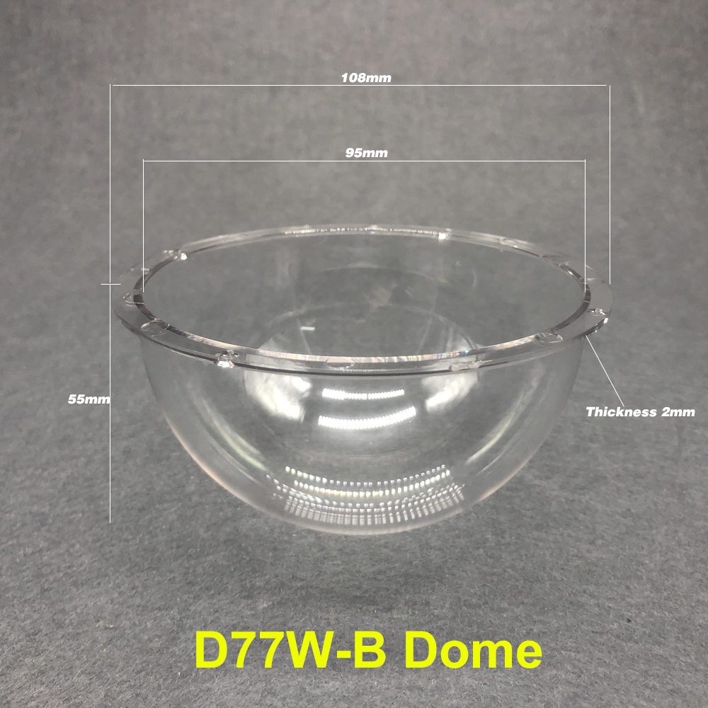 4 inch Acrylic Ball Cover PC Explosion proof Hemisphere Cover Optical Ball Case Camera Waterproof Lens