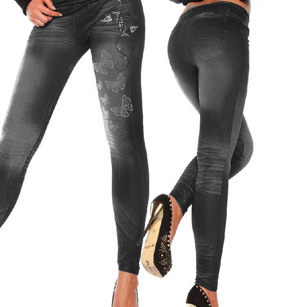 Classic Stretchy Slim   Leggings   Sexy Women Jean Skinny Jeggings Skinny Pants