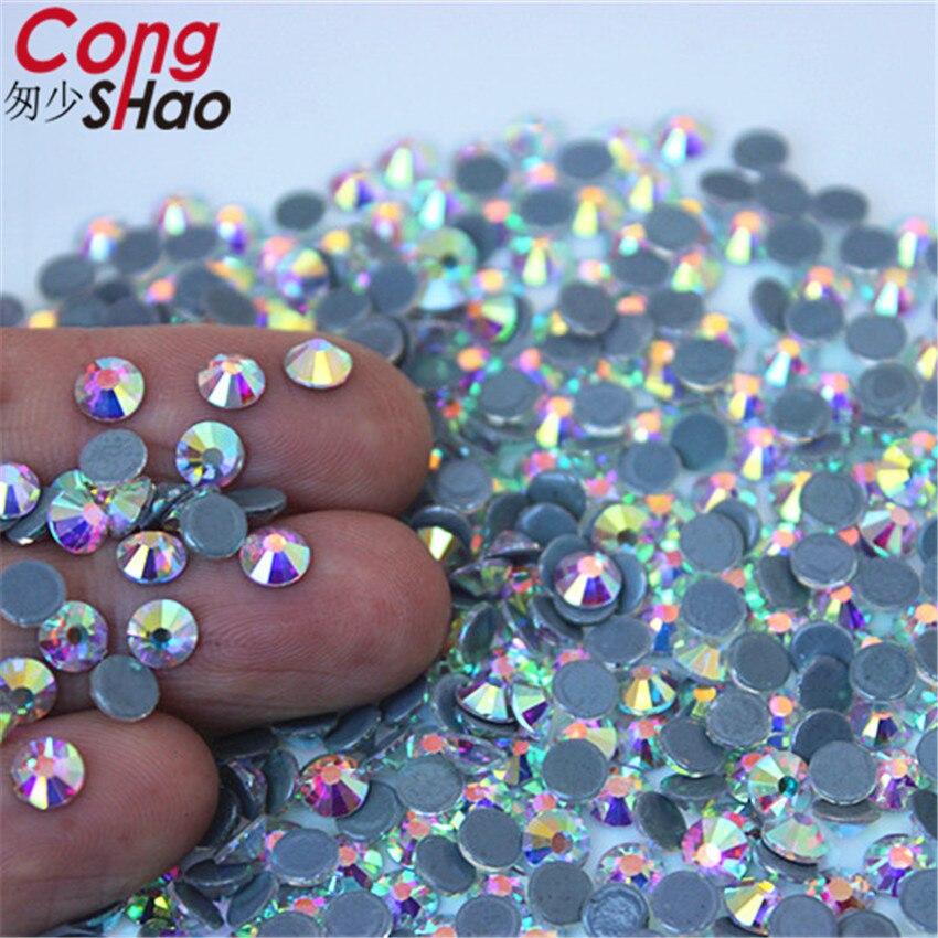 Cong Shao High Quality SS3 SS40 DMC Crystal AB Hot back Glass Stones ... 5a180b73c174