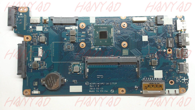 Купить с кэшбэком LA-C771P 5B20J30760 For Lenovo 100-15IBY Laptop Motherboard with N2840 Processor DDR3L Full Tested