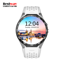KW88 Smart Uhr 3G WCDMA Pulsmesser Uhr Kamera Reloj Inteligente SIM Akilli Saatler HD Digital-uhr WIFI Smartwatch