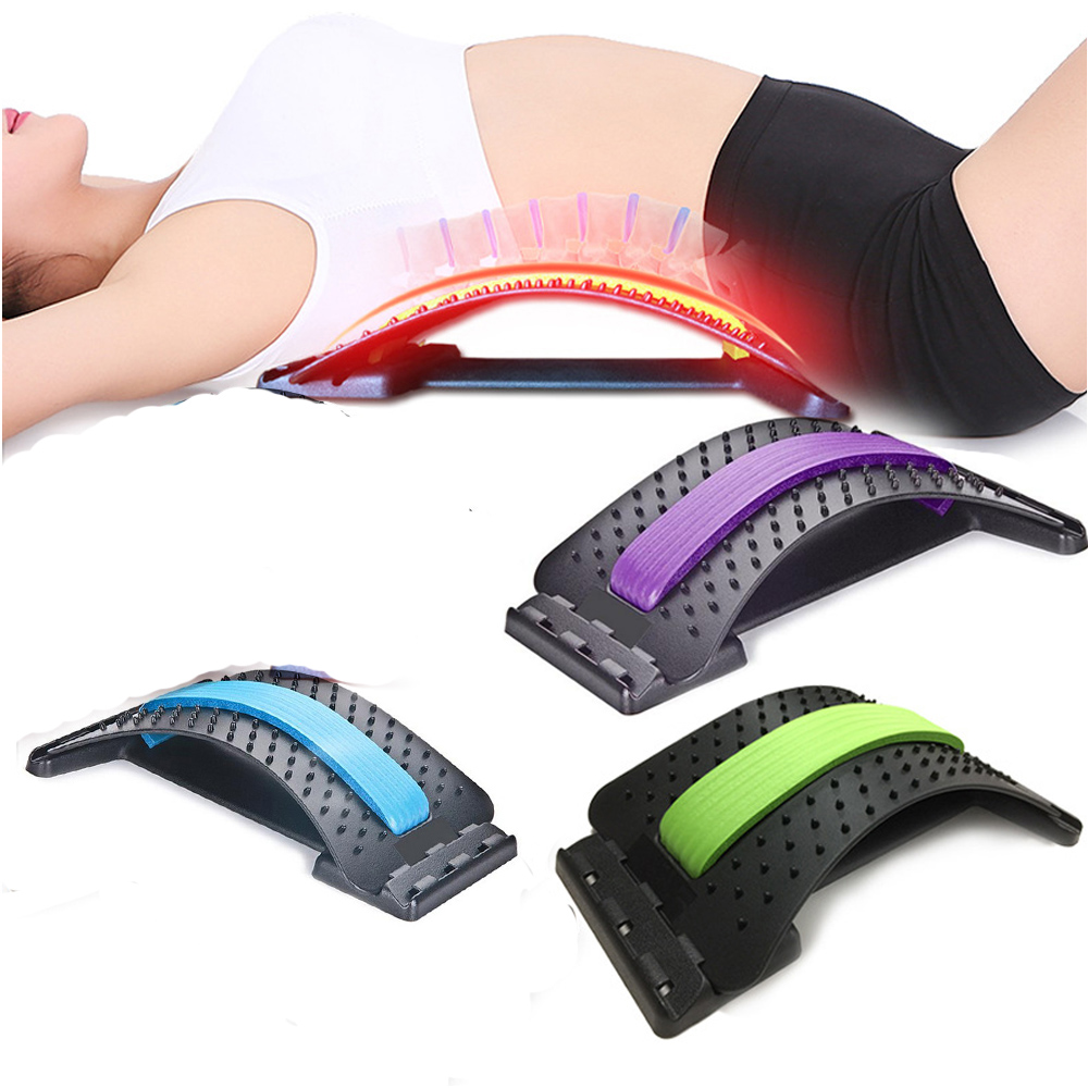 Stretch Equipment Back Waist Massager Magic Stretcher Fitness Lumbar Support Relaxation Pain Relieve Fitness Equipments