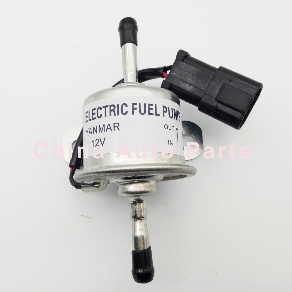X AUTOHAUX Auto Electronic Fuel Pump Replacement Silver Tone Black Metal Plastic 129612-52100 for Yanmar 4TNV88 3TNV88