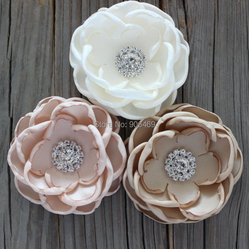 Wedding hair flower bridal accessories Wedding hair flower Bridal Fabric burn singed flo ...