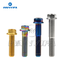 Wanyifa Titanium Flange Hex Small Head Motorcycle Bolt M8 x15 20 25 30 35 40 45 55 60 65mm P1.25mm