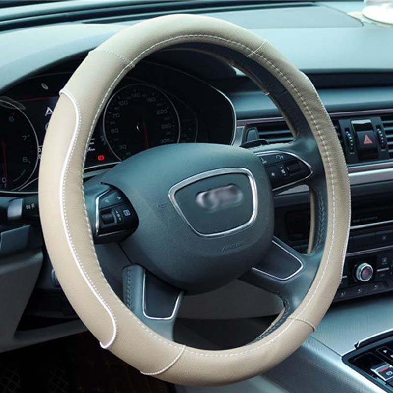 Car interior products Fashion car steering wheel cover New leather four seasons universal car handle