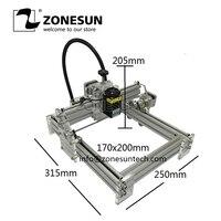 ZONESUN Laseraxe 405nm500mW DIY Desktop Mini Laser Engraver Engraving Machine Laser Cutter Etcher 17X20cm Adjustable Laser Power