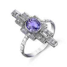 Huitan New Gothic Women Ring With Purple Cubic Zircon Setting Stylish Length Special Constellation Culture