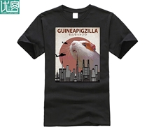 2019 Hot sale Fashion 100% cotton Guineapigzilla Funny Guinea Pig T-Shirt Gift Tee shirt