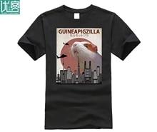 цены на 2019 Hot sale Fashion 100% cotton Guineapigzilla Funny Guinea Pig T-Shirt Gift Tee shirt  в интернет-магазинах
