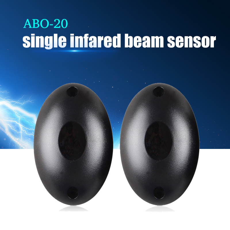 YiiSPO ABO-20 Wholesale Newest Waterproof Active Photoelectric Single Beam Infrared Sensor Barrier Detector for Gate Door Window fast delivery 5 pair high sensitivity active infrared safety detected sensors photoelectric beam detector for gate opener