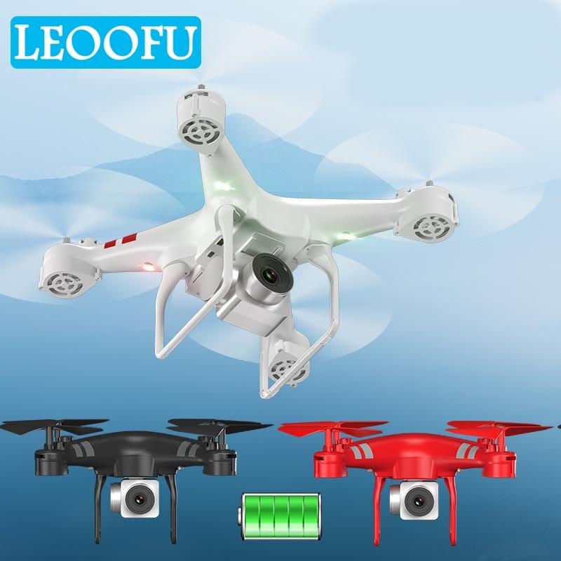 LEOOFU Batterie mise à niveau des capacités wifi hd caméra drone en temps réel transmission rc hélicoptère quadcopter sans tête mode drone jouets